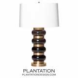 Sela Glass Table Lamp | Black
