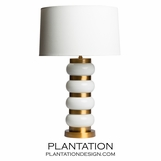 Sela Glass Table Lamp | White