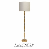 Ashta Floor Lamp | Gold Leaf