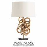 Shelby Brass Table Lamp