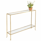 Skinny Large Console Table | Gold
