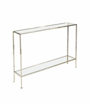 Skinny Large Console Table | Nickel