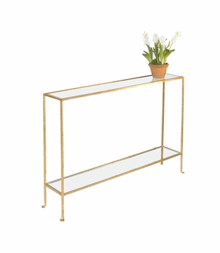 Skinny Medium Console Table | Gold