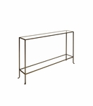 Skinny Small Console Table | Bronze