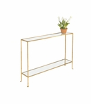 Skinny Small Console Table | Gold