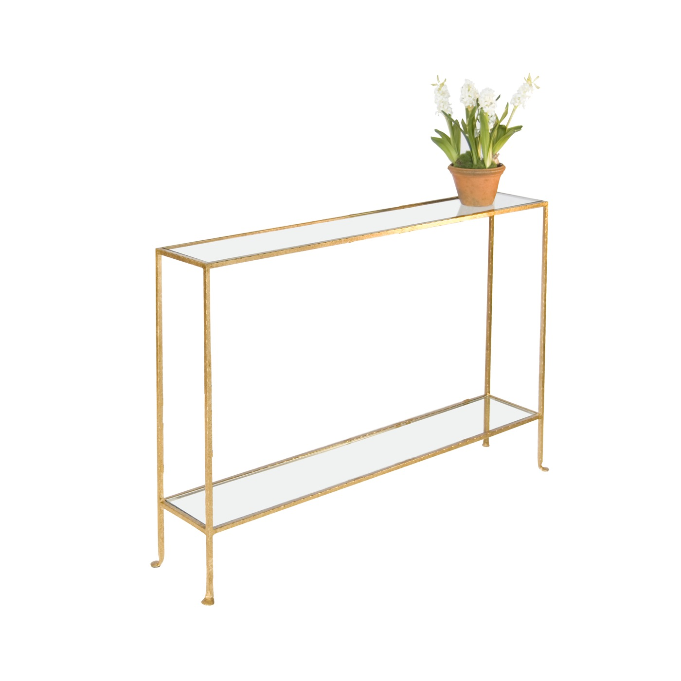 Skinny Small Console Table | Gold | PLANTATION