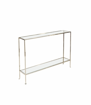 Skinny Small Console Table   Nickel