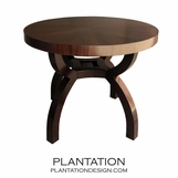 Spyder Round Dining Table, Mahogany