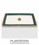 Stellar Large Tray | Peacock & Gold