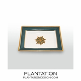 Stellar Small Tray | Peacock & Gold
