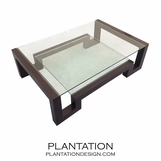 Step Coffee Table, Glass Shelves