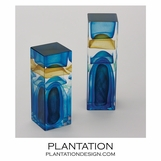 Stratum Art Glass Columns | Ocean