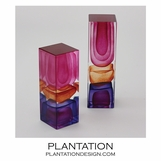 Stratum Art Glass Columns | Sunrise