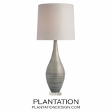 Swirl Ceramic Lamp | Grey