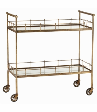 Tavira Antique Brass Bar Cart