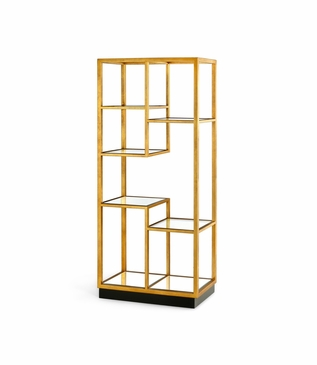 Tiano Gold Leaf Shelf