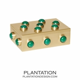 Titan Gemstone Small Box | Malachite