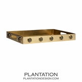 Titan Gemstone Rectangular Tray | Pyrite