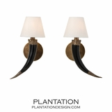 Togo Horn Sconces Set