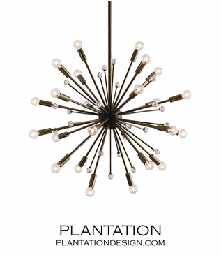 Nova Small Chandelier | Brass