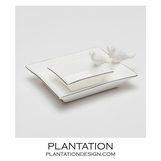 Tweet Ceramic Trays Set | Silver
