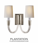 Vance Double Sconce | Nickel