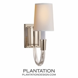 Vance Single Sconce | Nickel