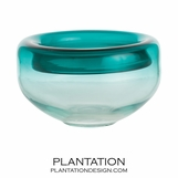 Vasari Glass Bowl | Teal