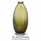 Vestal Ribbed Vase | Green