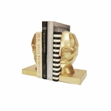 Visage Iron Bookends | Gold Leaf