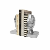 Visage Iron Bookends | Slver Leaf