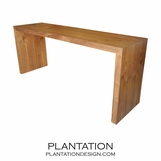 Wade Waterfall Console Table, Walnut