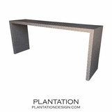 "Waterfall Fabric Console | ""Woven"""
