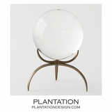 Wedgewood Sphere on Stand | Bronze