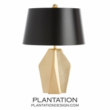 Weston Brass Table Lamp | Black Shade