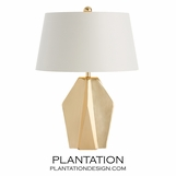 Weston Brass Table Lamp | White Shade