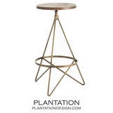 Whitworth Bar Stool | Brass