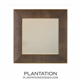 Winston Leather Wall Mirror | Brown