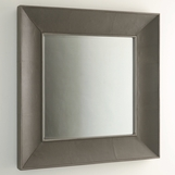 Winston Leather Wall Mirror | Grey