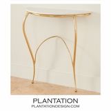 Wispy Console Table | Brass