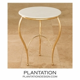 Wispy Side Table | Brass
