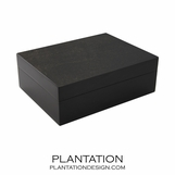Woodgrain Storage Box | Black
