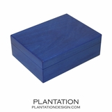 Woodgrain Storage Box | Blue