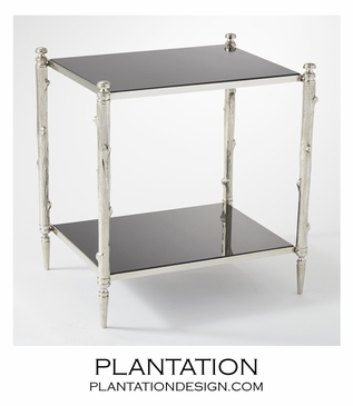 Woodland Side Table | Nickel