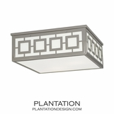 Wynn Square Flush Mount | Polished Nickel