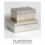 Yen Leafed Boxes | Silver