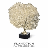 Zara Sea Fan Sculpture | Brass