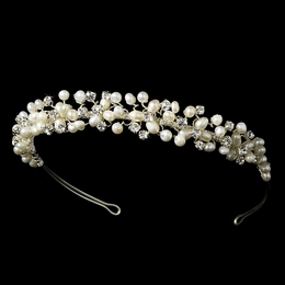"""Beach Party"" Freshwater Pearl and Rhinestone Headband"
