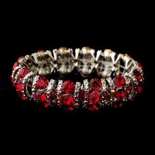 """Cabaret"" Crystal Stretch Bracelet (Red)"