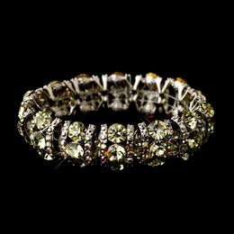 """Cabaret"" Crystal Stretch Bracelet (Yellow)"
